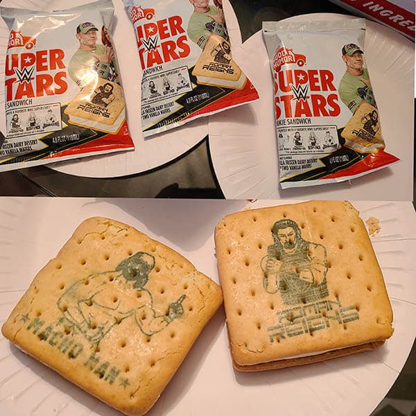 Good Humor WWE Cookie Sandwich Ice Cream