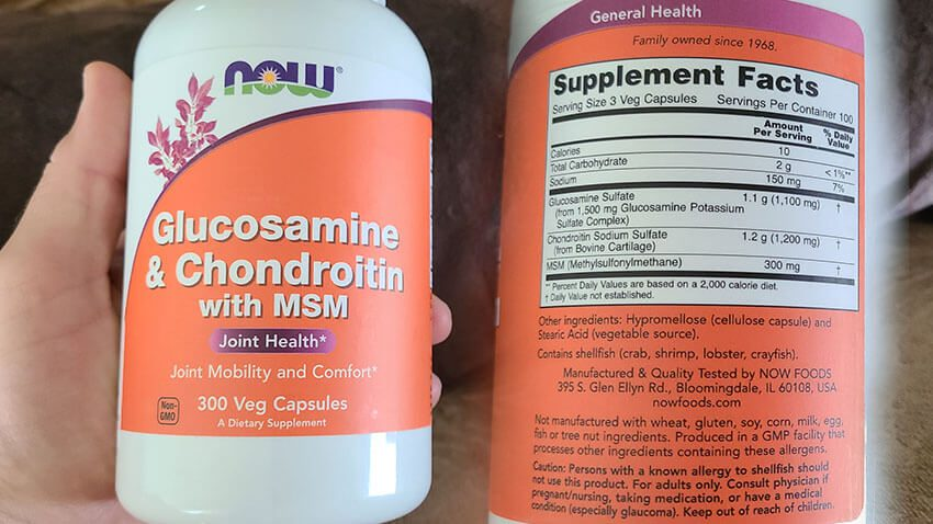 NOW Glucosamine & Chondroitin with MSM for Joint