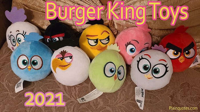 2021 burger king toys angry birds