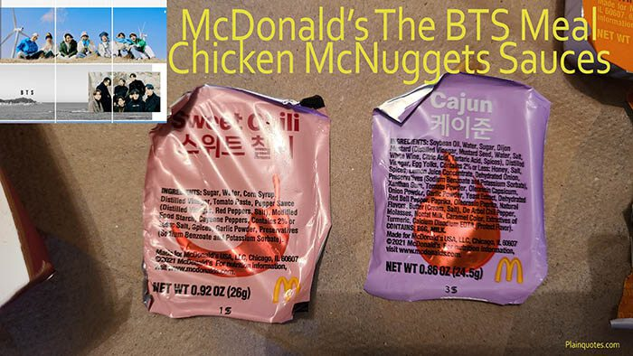 McDonald's The BTS Chicken McNuggets Meal