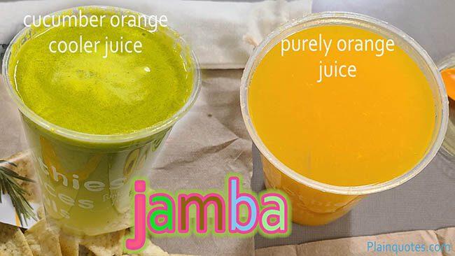 jamba juices cucumber and orange